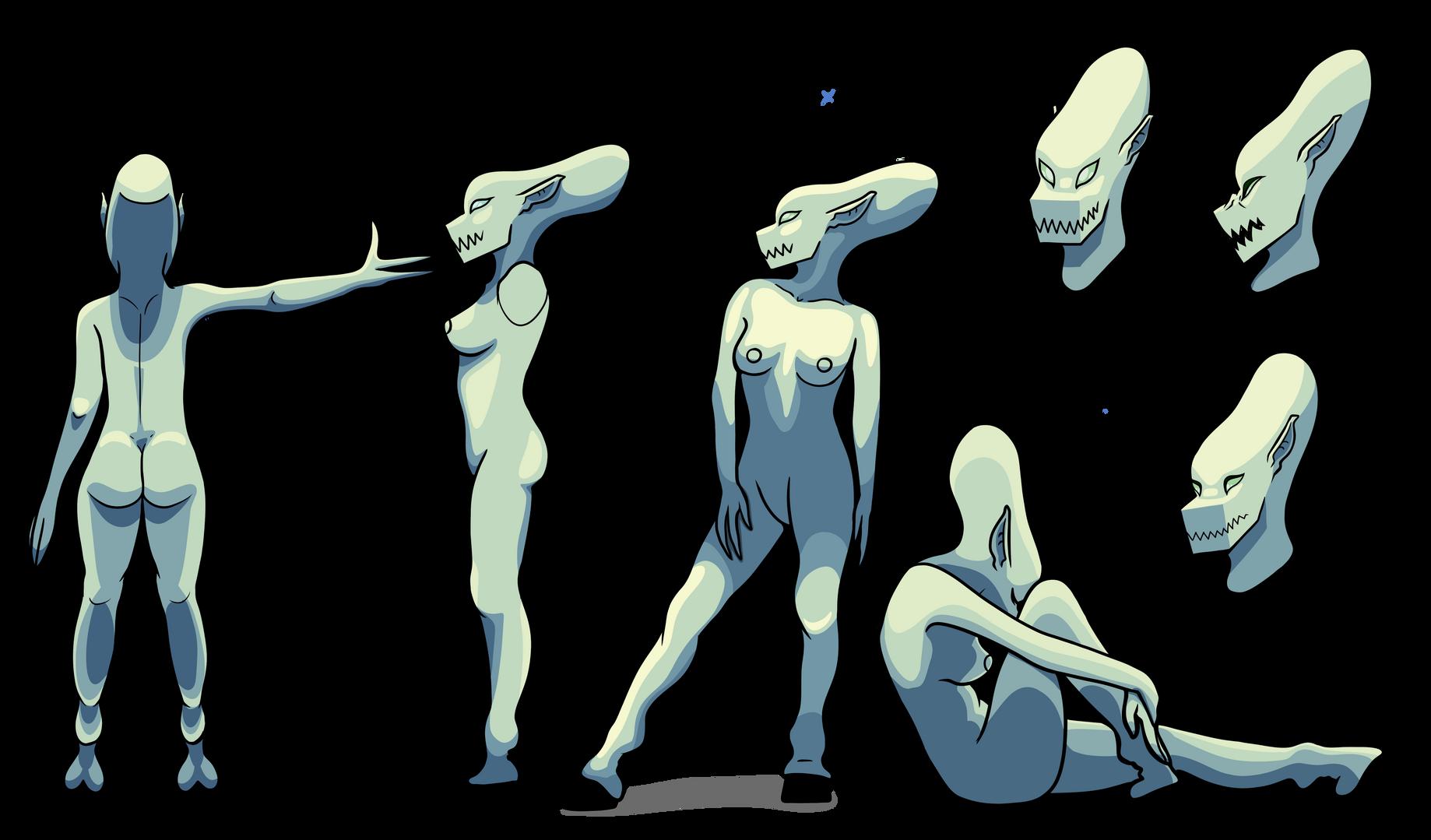 Alien girl Character Design #2