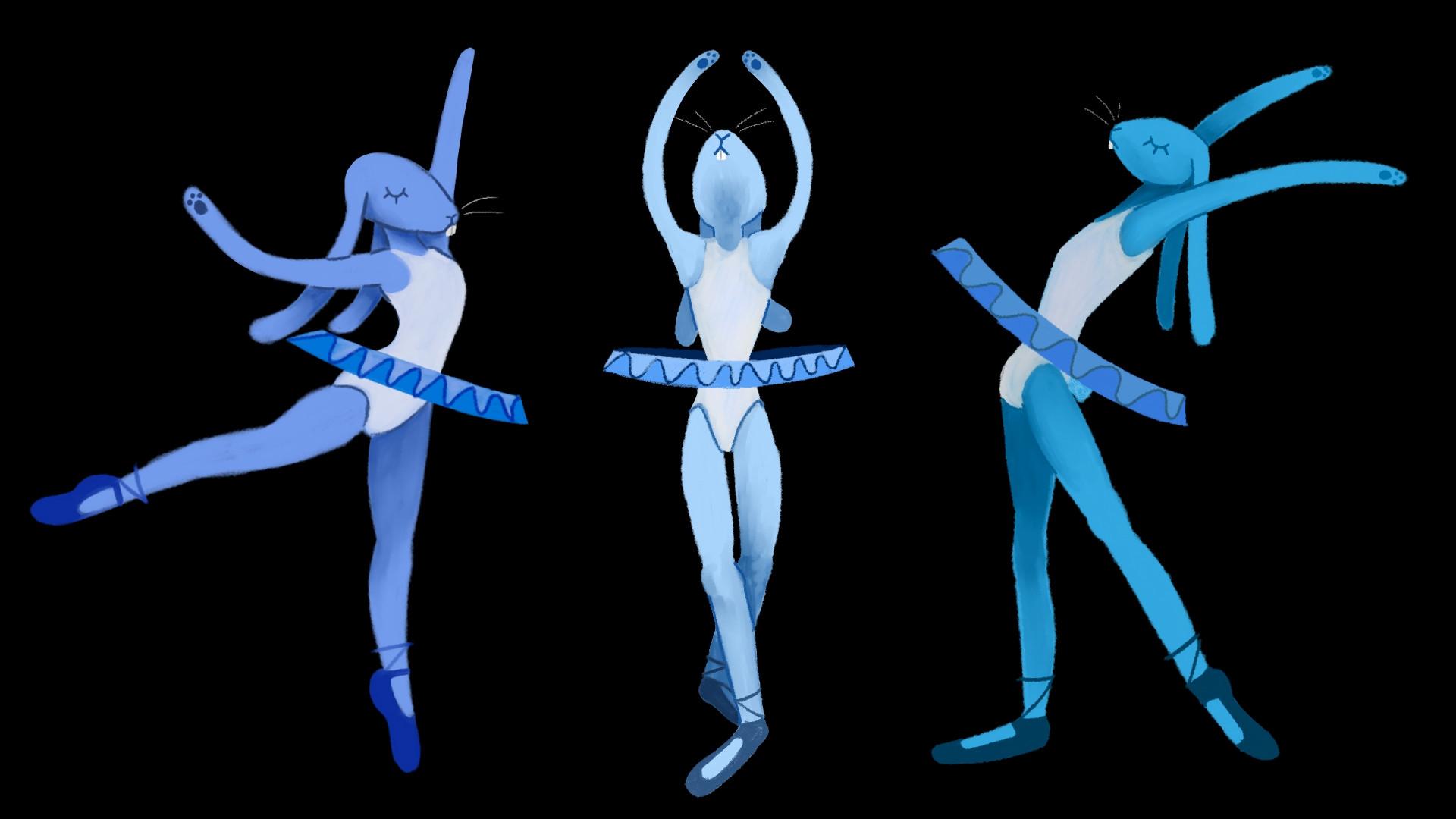 The Blue Bunny Ballerinas!