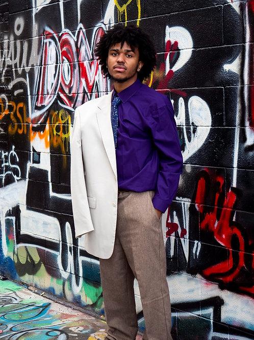 Purple EXPRESS button up shirt sz M