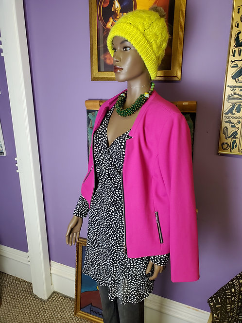 Hot pink jacket by JM Studio sz 12
