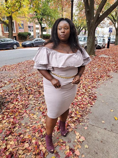 Lavender ruffle top dress sz XL