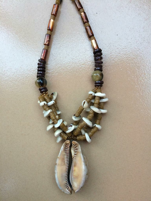 Large cowry shell necklace