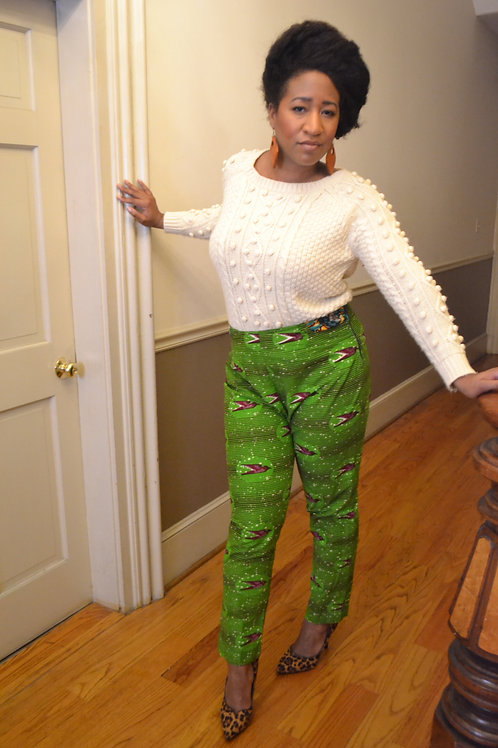 Creme knit ball sweater sz XL