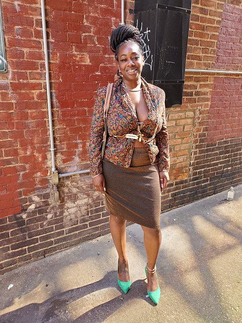 Vintage paisley blouse/blazer sz M