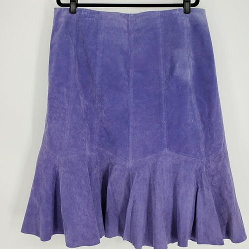 Vintage Jessica London purple suede midi skirt sz 16