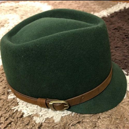 Brimless Military Green Fedora
