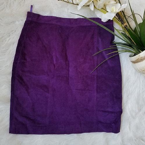 Vintage Purple suede mini skirt sz 16