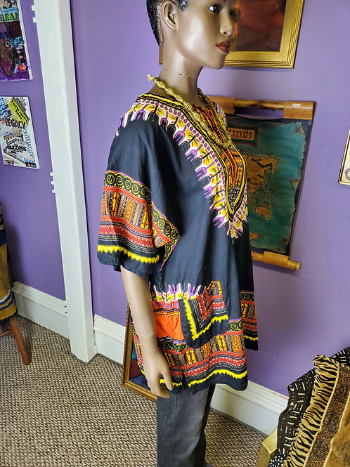 Black dashiki one size