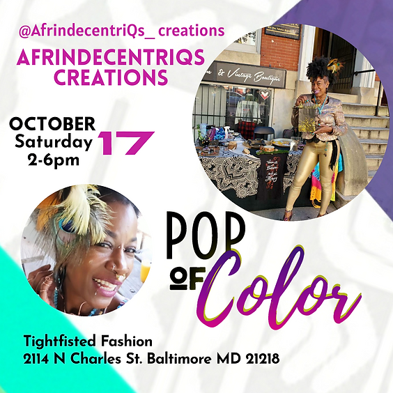 AfrindecentriQs Creations Pop-up at Tightfisted Fashion