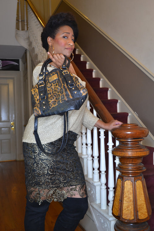 Cheetah print Kardashian Kollection handbag