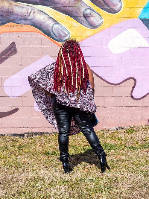 Black faux leather stretch pants sz 3X