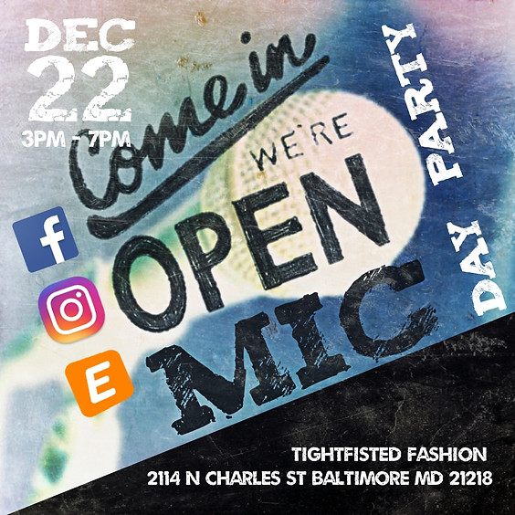 Open Mic Day Party