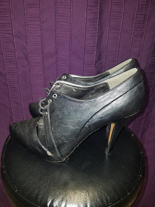 Black cutout booties sz 11