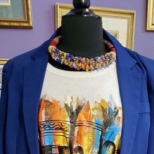 Ghanaian handmade beaded necklace