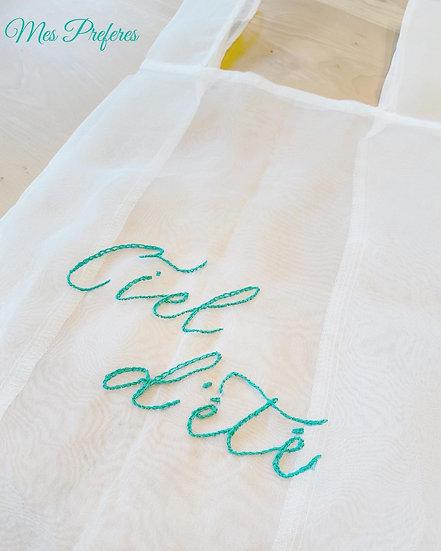 オーガンジーバック刺繍キット