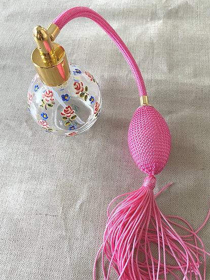 フランス製 ハンドペイント香水ボトル 薔薇