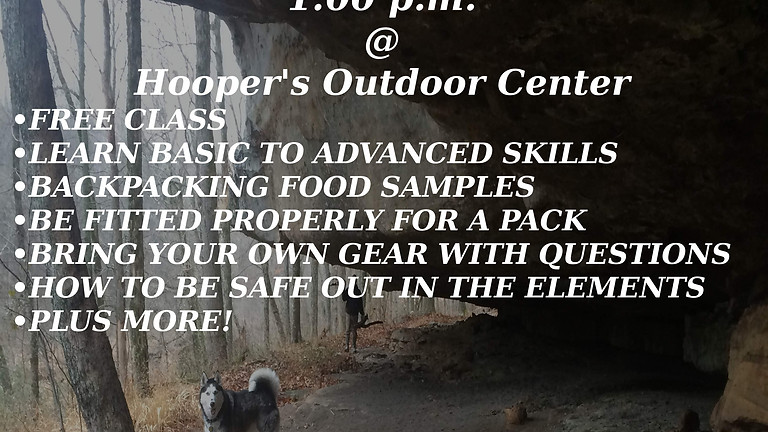 Free Backpacking 101 Class