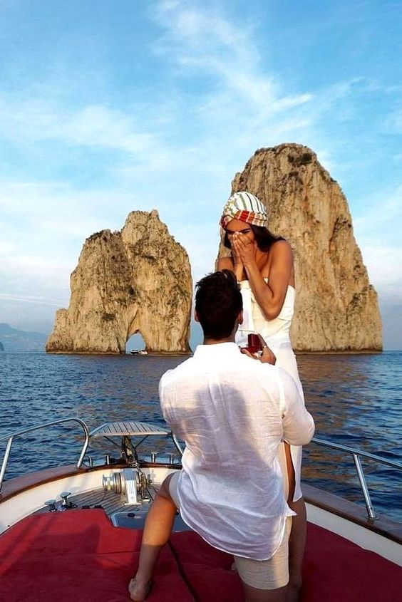 Wedding proposal in Capri