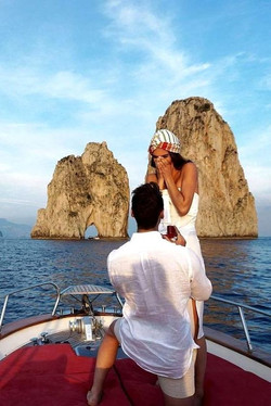 Wedding proposal in Capri