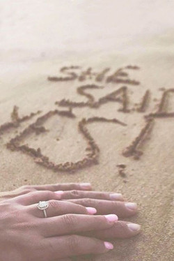Mary's proposal on beach