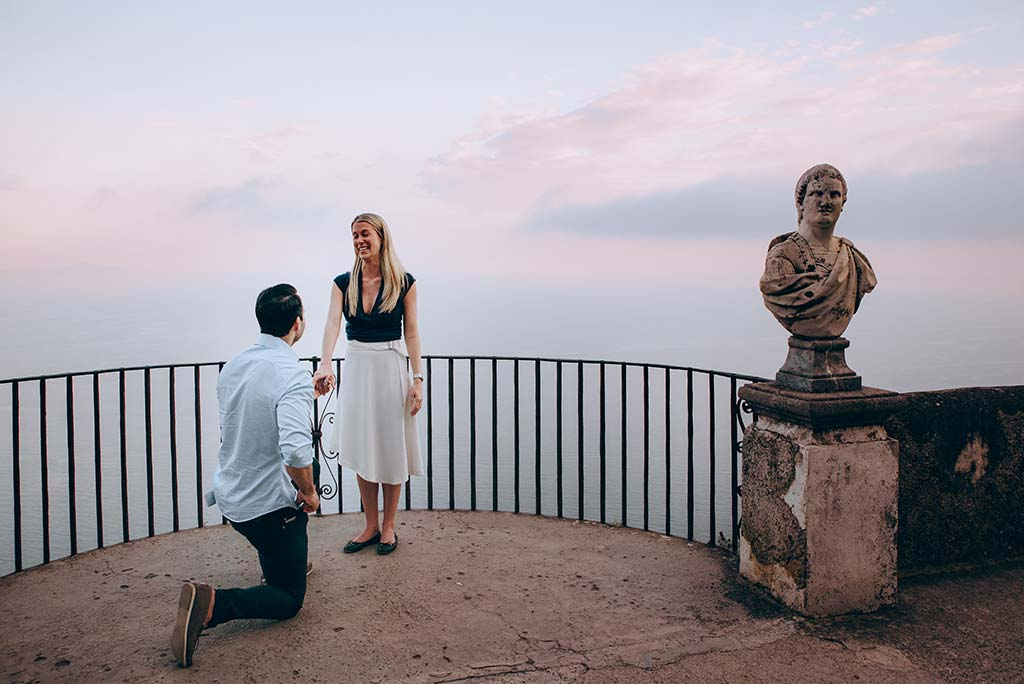 Wedding proposal in Ravello, Italy