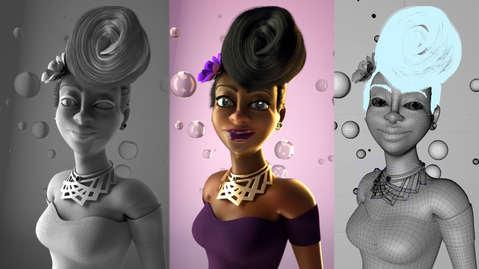 CHARACTER DESIGN - 3D CONCEPT WOMAN