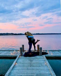 Wedding proposal at Lake Garda