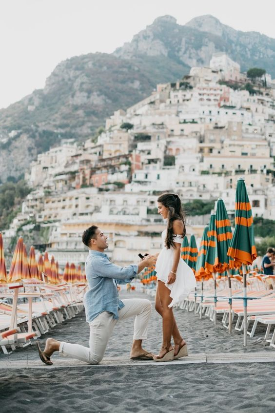 Mary's proposal in Positano