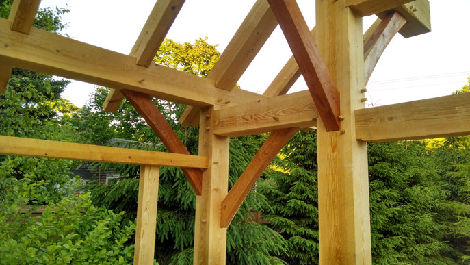 Timberframe Peg Joints