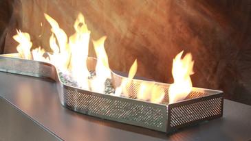 Serpentine Outdoor Gas Fireplace