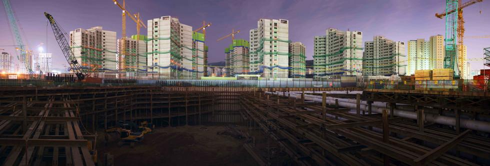 Mechanical City-1(위례신도시),  C-print, 85x250Cm, 2015