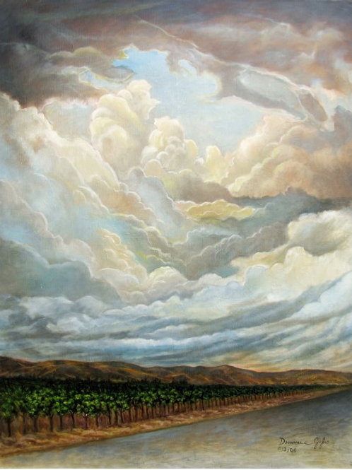 "VINEYARD SKY 16""x20"" Giclee on Wrapped Canvas"