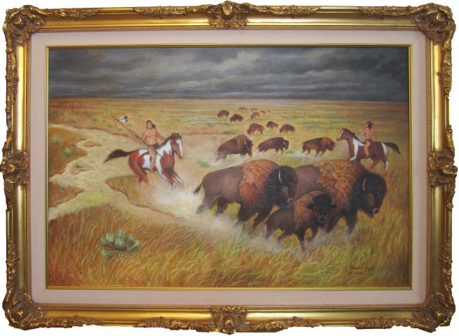 Buffalo Hunt 24X36 (Small).jpg