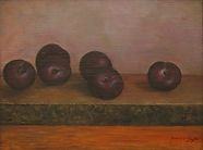 Plums 14X11   Oil on Panel