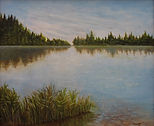 "Summer Lake View 20X16 ""Solitude beckons"""