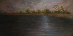 "Moonlight Bay 24"" X 12"" Oil on Canvas"