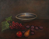 Fruit & Bowl 20X16 Oil on Canvas