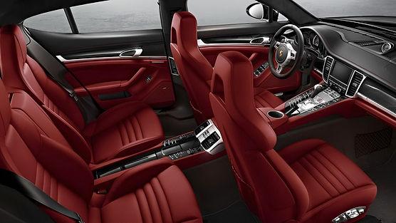 panamera red interior