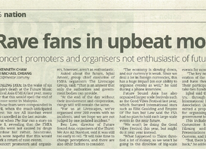 The Star: Rave fans in upbeat mood