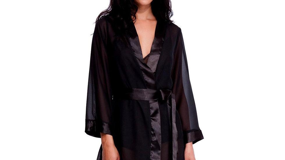 Chiffon Kimono Black