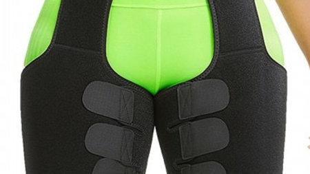 High Waist Thigh Shaper Black