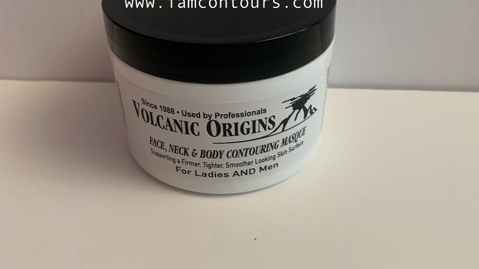 Volcanic Origins Face & Body Ash Mineral Clay Mud Mask 10 oz. size