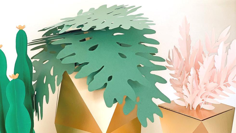Gold Potted Plant & Succulent Set A
