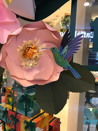 The Body Shop Paper Flower DH Paper Art.