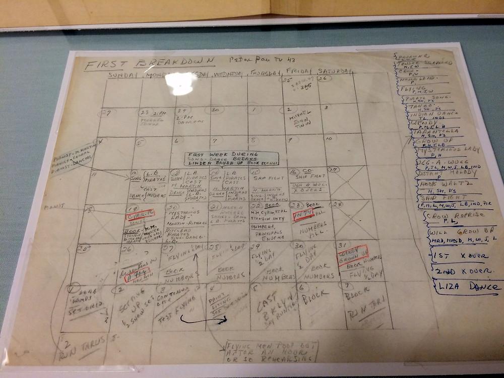 Peter Pan Rehearsal Schedule