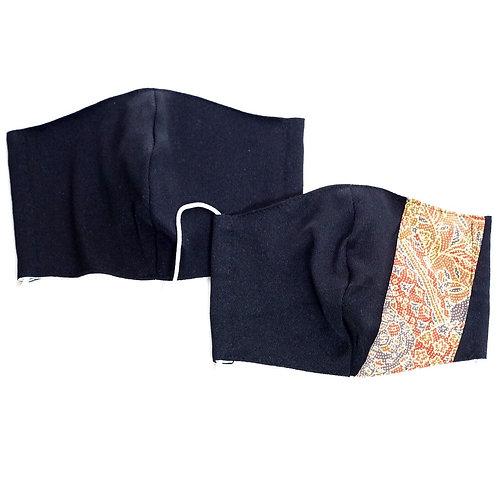 着物&竹布マスク ペア黒