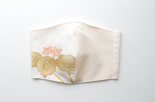 着物&竹布マスク Mサイズ 薄地白系