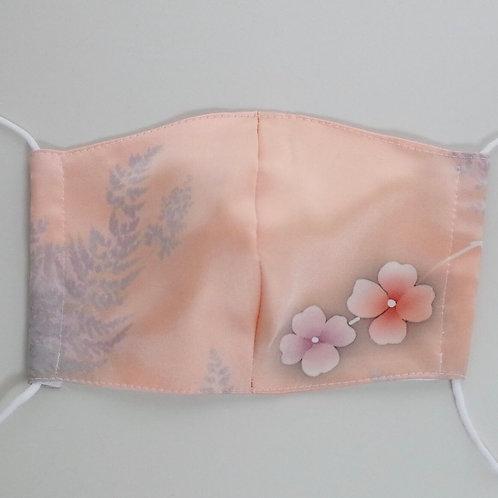 着物&竹布マスク Mサイズ ピンク光沢