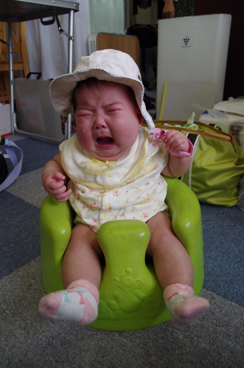 赤ちゃんの泣き顔かわいい