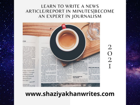 Learn to write a news article/report in minutes|Become an expert in journalism